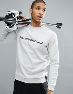 Read more about Peak performance goldeck crew neck logo sweat in off white - 05y dk off white