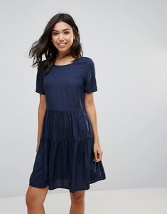 Read more about Vero moda tiered smock dress - navy blazer