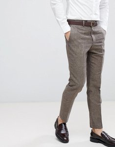 Read more about French connection semi plain donegal slim fit suit trousers - tan