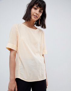 Read more about Selected femme textured woven top - apricot ice