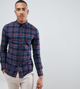 Read more about Farah radley slim fit check shirt in red - red