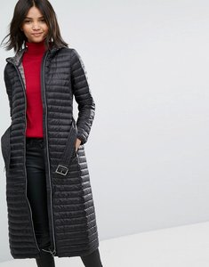 Read more about Esprit down longline padded coat - black