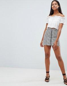 Read more about Rare london zebra printed a-line mini skirt - black white