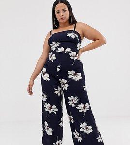 Read more about Club l plus wide leg cami strap jumpsuit