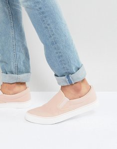 Read more about Brave soul slip on plimsolls in pink - pink