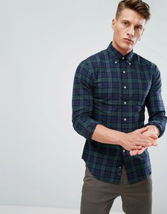 Read more about Polo ralph lauren tartan check shirt oxford slim fit pocket in green - green navy