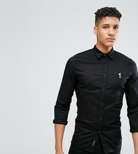 Read more about Religion tall slim fit shirt with stretch - black