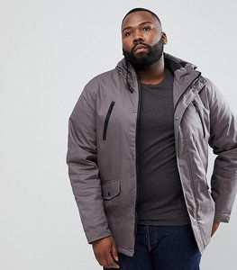 Read more about Brave soul plus hooded bonded parka - grey
