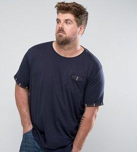 Read more about Brave soul plus pocket check t-shirt - navy