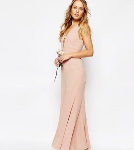 Read more about Fame and partners everland maxi dress with fishtail - lotus pink