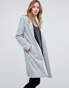 Read more about Gestuz tila longline jersey blazer - grey mel