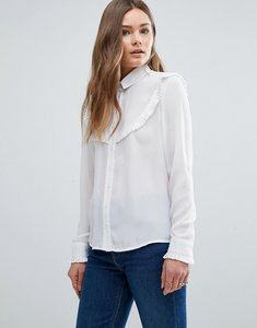 Read more about New look frill detail shirt - white