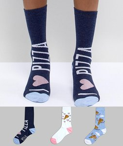 Read more about Sock shop pizza sock 3 pack - multi
