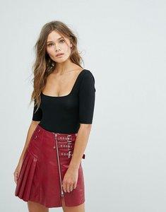 Read more about Miss selfridge 3 4 sleeve body - black