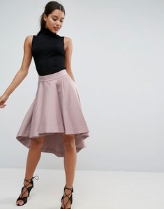 Read more about Asos premium dip back prom skirt in structured fabric - peach skin