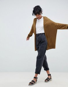 Read more about Asos design eco cardigan in oversize fine knit - olive