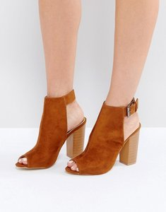 Read more about Raid rosie brown peeptoe heeled ankle boots - brown