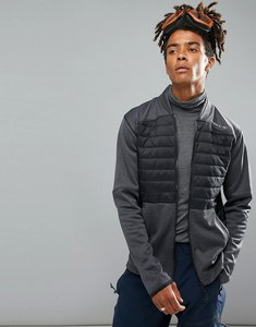 Read more about O neill activewear kinetic quilted sweat jacket in black grey - blackout