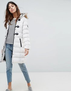 Read more about Brave soul mid padded coat - stone