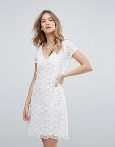 Read more about Traffic people v neck lace shift dress - white