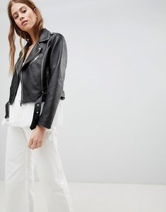 Read more about Pimkie leather look biker jacket - black