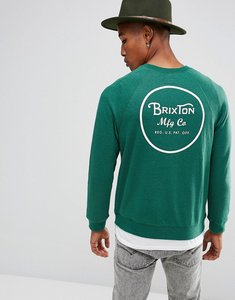 Read more about Brixton wheeler sweatshirt with back print - green