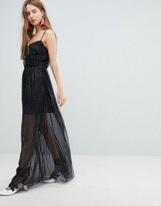 Read more about Bershka mesh cami dress - black
