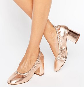 Read more about Asos simone heels - nude metallic