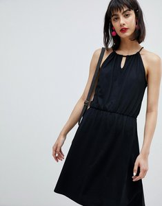 Read more about Esprit jersey drawstring mini dress - black