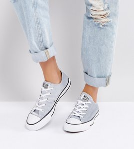 Read more about Converse chuck taylor ox trainers in grey velvet - grey