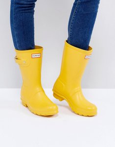Read more about Hunter original yellow short wellington boots - yellow