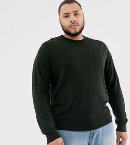 Read more about French connection plus crew neck jumper - green