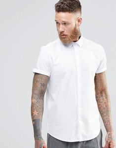 Read more about Asos smart regular fit oxford shirt white - white