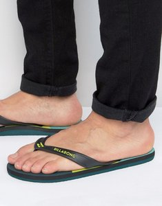Read more about Billabong cut it flip flops - green
