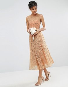 Read more about Asos wedding prom dress in lace - blush