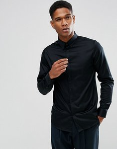 Read more about Selected homme shirt with concealed button down collar in slim fit - black