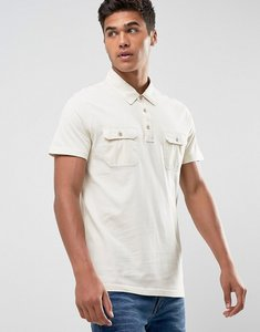 Read more about Abercrombie fitch military muscle slim fit polo jersey in beige - beige