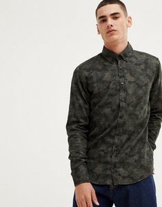Read more about Boss mabsoot slim fit buttondown oxford shirt in abstract camo - green
