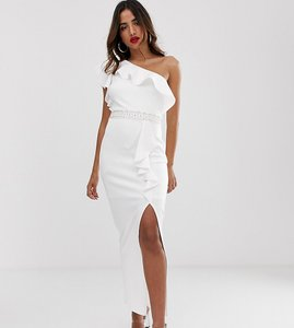 Read more about Tfnc one shoulder ruffle maxi dress with embellished waistband