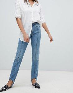 Read more about Vero moda stirrip straight leg jeans - medium blue denim