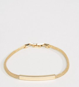 Read more about Designb chain id bracelet in gold exclusive to asos