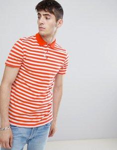 Read more about Asos design polo with orange and white stripe - multi