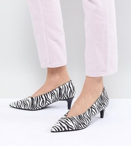 Read more about Monki kitten heel zebra shoe - multi