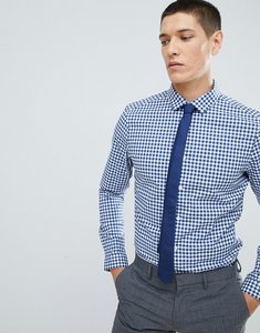 Read more about Asos design smart stretch slim stripe shirt in navy - navy