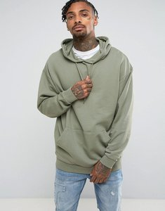 Read more about Asos oversized longline hoodie - ball green