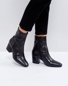 Read more about Asos ruben leather ankle boots - black leather