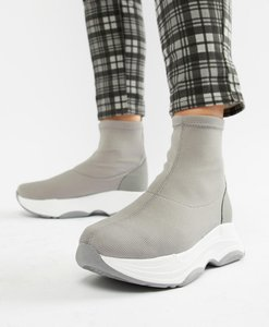 Read more about Asos design drill sock trainers - grey