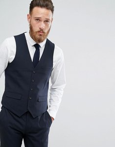 Read more about Harry brown plain stretch slim suit waistcoat - navy