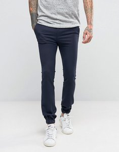 Read more about Asos extreme super skinny wool look smart joggers in navy - navy
