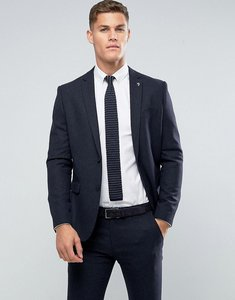 Read more about Farah skinny blazer in hopsack fabric - navy